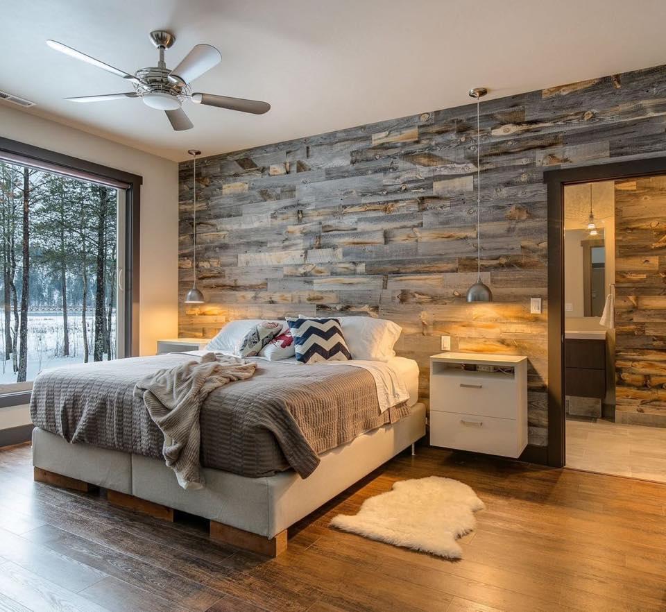 חיפוי עץ לחדר שינה