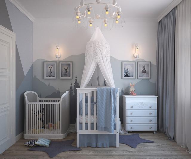 חדר ילדים לאחר צביעה