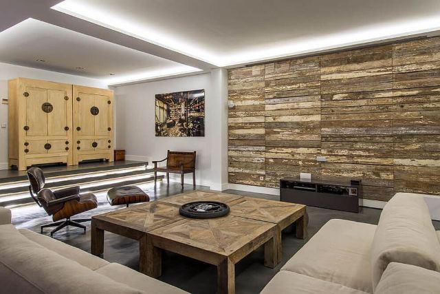חיפוי עץ לסלון